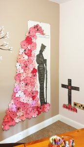 A remembrance day artwork by Ty Newydd